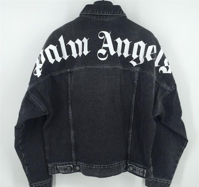 New Style TOP Palm Angels Denim Jacket Pop Women Men Palm Angels Outerwear Coats Palm Angels Jackets