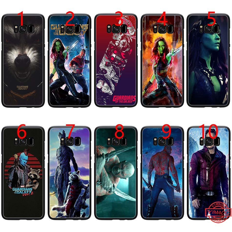 a31ec5b86d6 Fundas Para Carcasa Guardian Of The For Galaxy Marvel Soft Black TPU Para  Samsung Note 9 8 S8 S9 Plus S6 S7 Edge Carcasa Carcasas Para Moviles Por  E_emal, ...