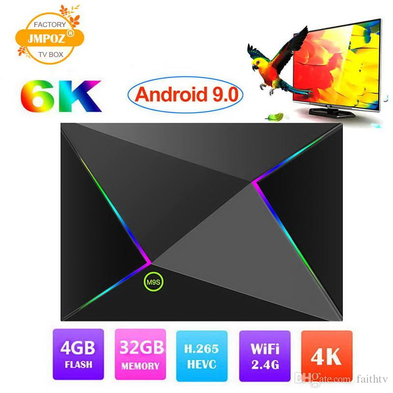 Android 9.0 TV Box M9S Z8 4GB 64GB 32GB Smart Set top box H6 H.265 4K Google Player Store Netflix media player M9S PK S905X2 RK3328 S905W