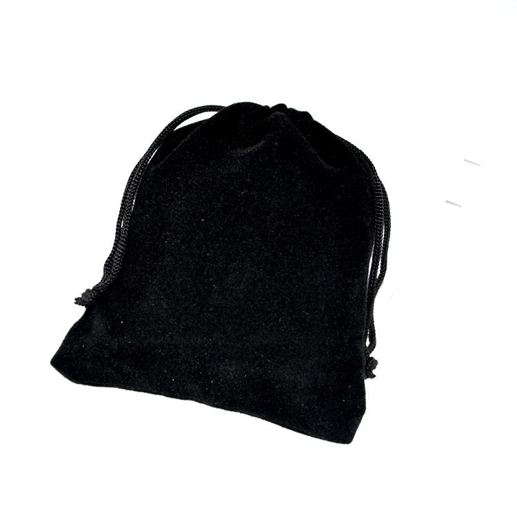 Hot Sale 7x9cm Black Velvet Bags Small Jewelry Charms Packaging Bags Wedding Decoration Drawstring Gift Bag Pouches