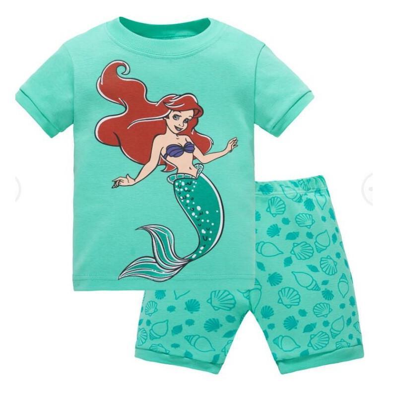 e7e53dae6 Compre Meninas Da Criança Pijama Set Sereia Princesa Ariel Roupas Meninas  Roupas Meninos Roupas Olá Kitty Crianças Pijamas De Benedicty, $38.41 |  Pt.Dhgate.