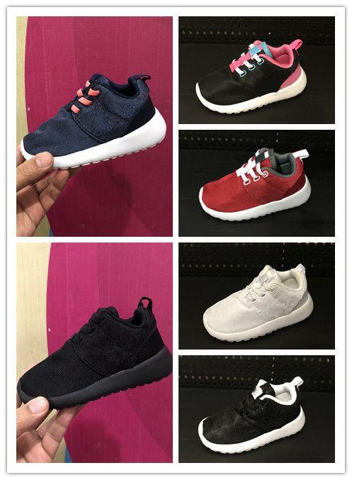 9bea556a3 Compre Nike Roshe Run Rosherun Zapatos Cómodos De Los Niños Zapatillas  Deportivas De Los Cabritos Del Niño Para Las Muchachas Zapatillas De  Deporte De Los ...