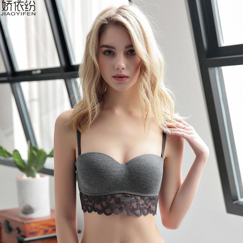 3075ef82fc 2019 Cotton Underwear Sexy Lace Hollow Bra Set Glossy Solid Color For Women  Cute Bra And Panty Push Up Seamless Lingerie From Zhoukoujean