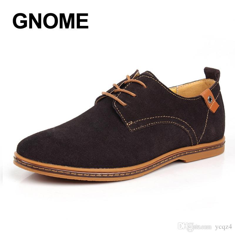 6a49a8a9274 Gnome Plus Size 48 Spring Autumn Leather Casual Mens Oxfords Outdoor ...
