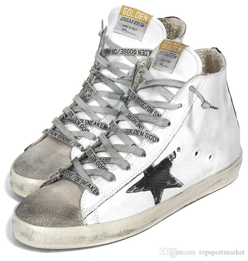 6c30e7a8081a1 Compre Gooses Dorados Zapatillas De Deporte De Mujer Diseñadores De ...