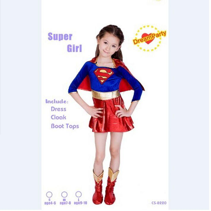 Girls Supergirls Costume Kids Muscle Superman Costumes Childrens Day Halloween Costume For Kids Carnival Superhero Costume Choice Materials Home