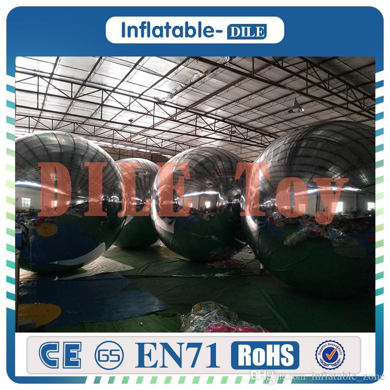 Free shipping to door 2 m diameter PVC inflatable mirror ball inflatable crystal mirror mirror ball inflatable balloon For sale