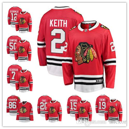1eeab36dfd6 2019 Chicago Jonathan Toews Alex DeBrincat Duncan Keith Blackhawks Fanatics  Branded Breakaway Player Hockey Jersey From Hottopjersey08, $27.42 |  DHgate.Com