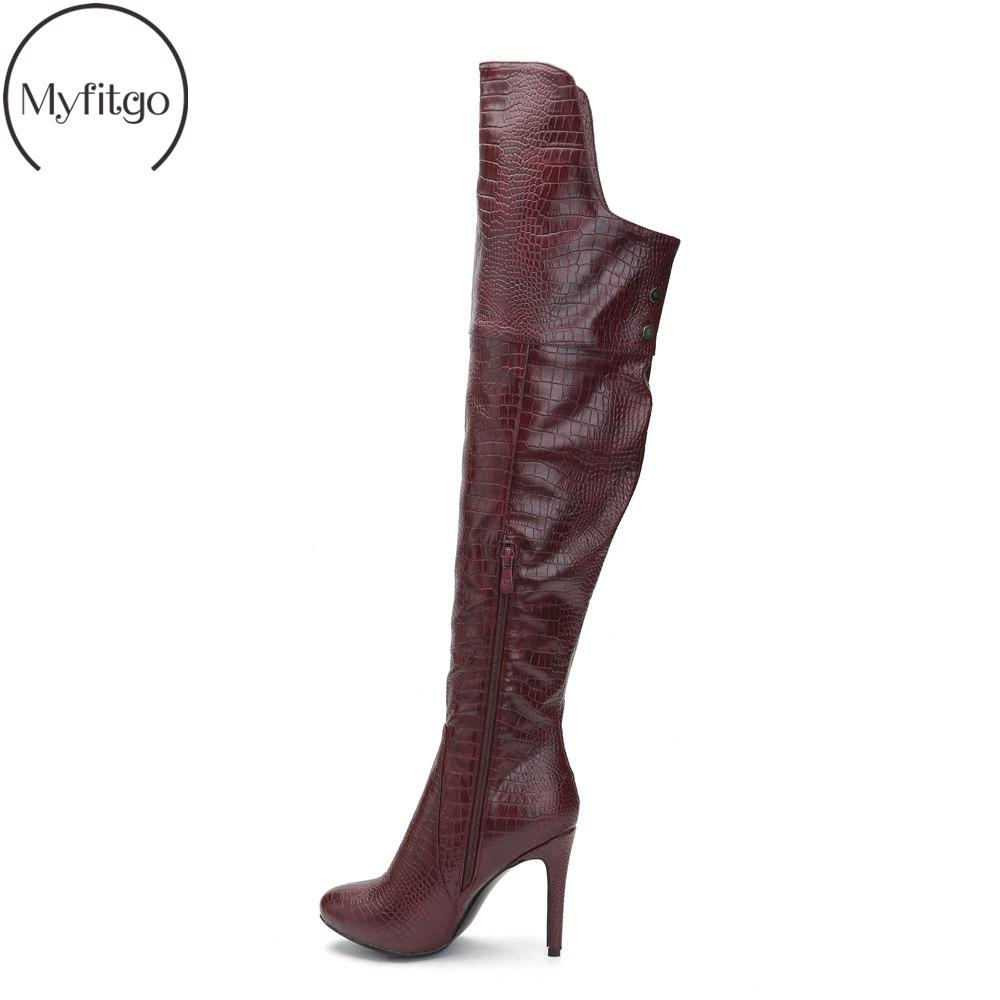e132197836e Winter Wide Calf Women S Over The Knee High Boots Thin Heels Pointed Toe  Zipper Long Boots Solid Custom Shoes Large Size US5 15 Boots Uk Winter Boots  From ...