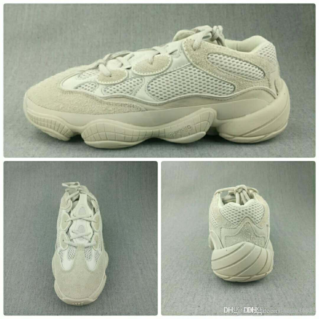 best website 761e1 866ae Actual shooting Adidas Yeezy 500 Blush Desert Rat Super Moon Yellow Light  Grey Gum Glow running Shoes Sneaker Men Sports Casual Boost