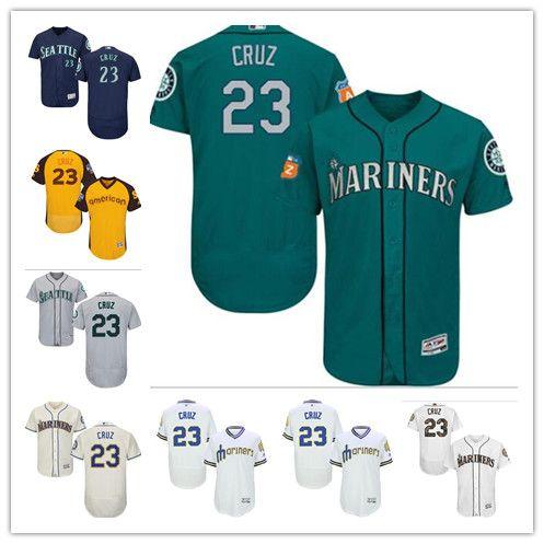 best service 1d65a 3dafd custom Men's Women Youth Seattle Mariners Jersey #23 Nelson Cruz Green  White Grey Baseball Jerseys