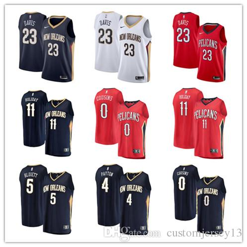 bc596029298cc7 2018 Men S New Orleans Pelicans  23 Anthony Davis 11 Jrue Holiday 5 Trevon  Bluiett 0 DeMarcus Cousins Navy Swingman Jersey Icon Edition From  Qualityjersey10 ...