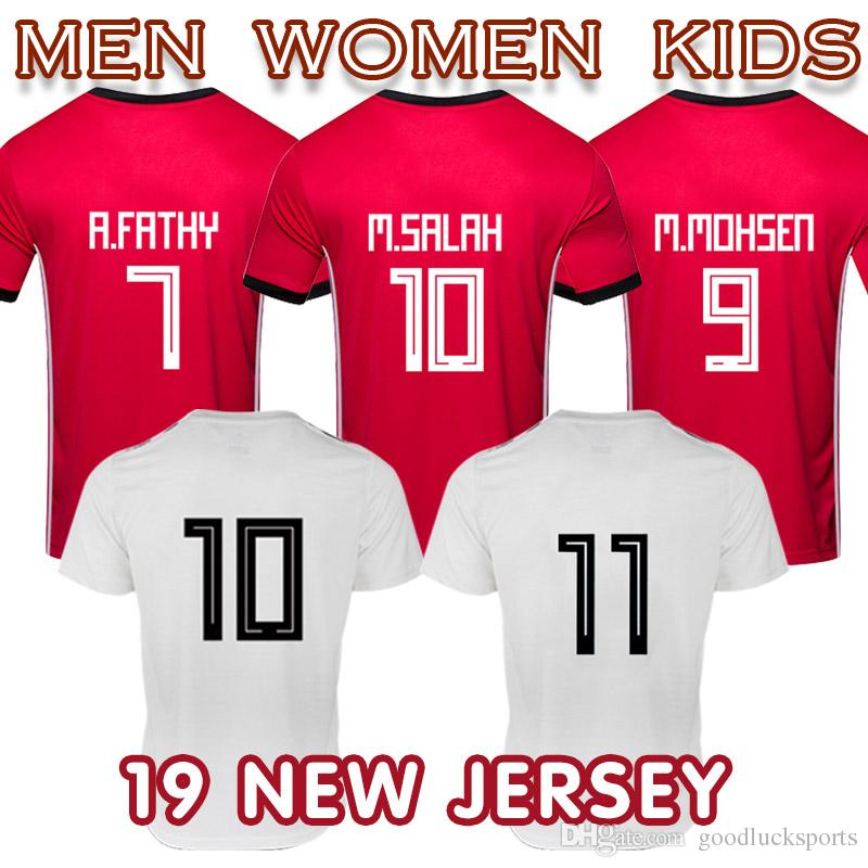 the latest baf15 7bfd2 2019 Egypt maillot football National Team soccer jersey Salah 11 men shirt  home away Top Thailand quality