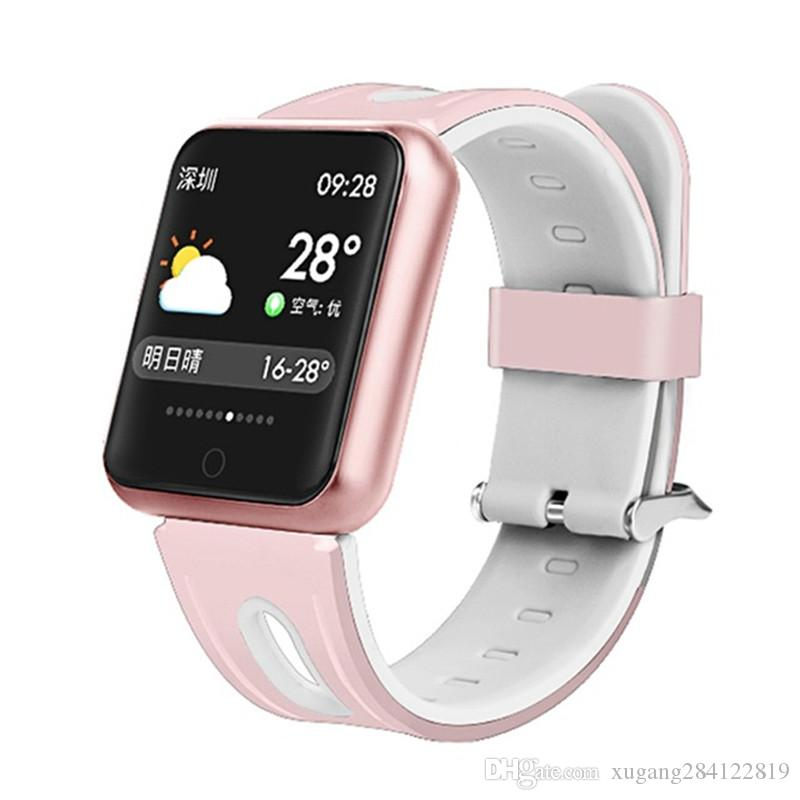 P68 38mm Smart Watch Armband IP68 wasserdicht Smartwatch Edelstahl Armband Bluetooth 4.0 1.3 Zoll Touch Screen Herzfrequenzsensor