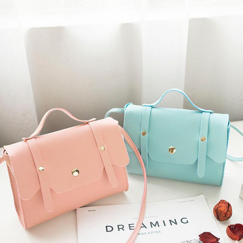 Top-handle Bags Luggage & Bags Fashion Shoulder Bag Pu Leather Handbag Lichee Pattern Small Flap Women Lady Portable Light Messenger Bags Bolsas Feminina Mujer