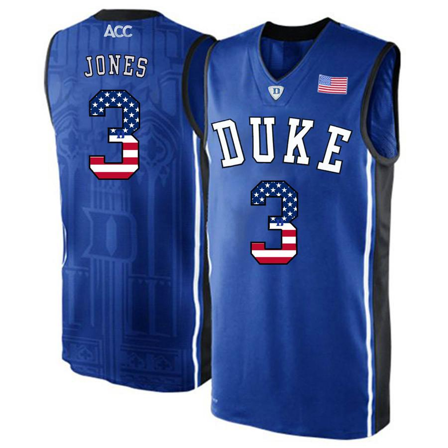5f1d8203383 2019 Mens Tre Jones Jersey Custom Duke Blue Devils College Basketball  Jerseys Fashion USA Flag High Quality Stitched Size S 2XL From Wzhc001