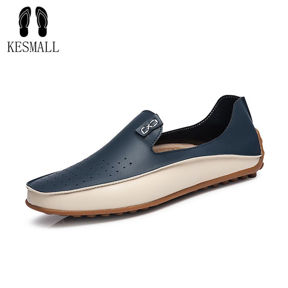3105f74d Compre KESMALL Hombres Zapatos De Soja Mocasines Para Hombres Zapatos De  Conducción Planos De Cuero Suave Tamaño Grande 46 Zapato De Hombre Mocasín  De ...