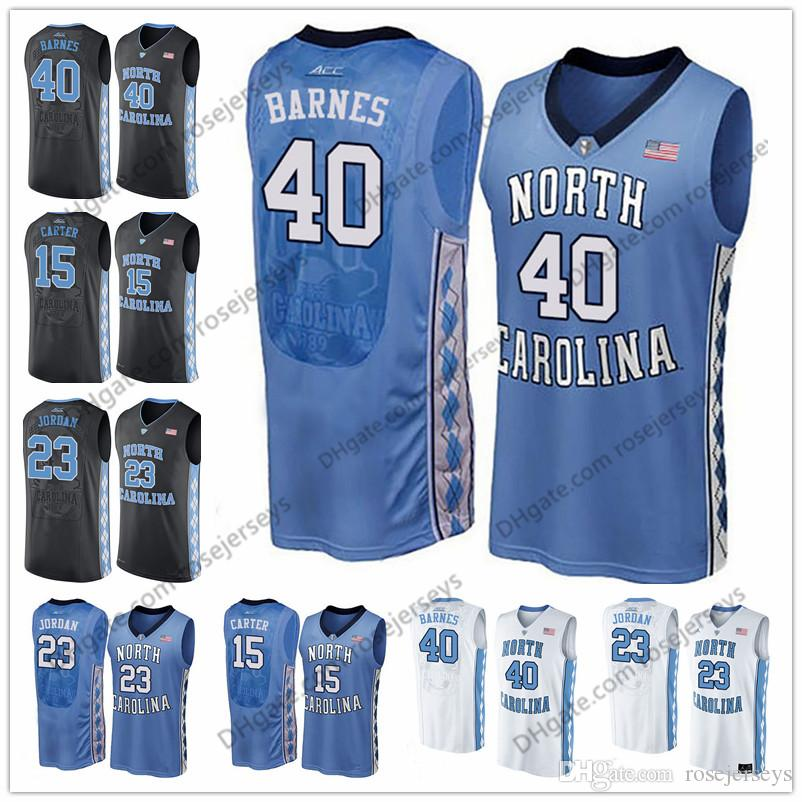 newest eacd3 a7fa5 North Carolina Tar Heels #40 Barnes 0 Seventh Woods 4 Brandon Robinson 42  Brandon Huffman Harrison 1 Leaky Black blue white UNC Jerseys
