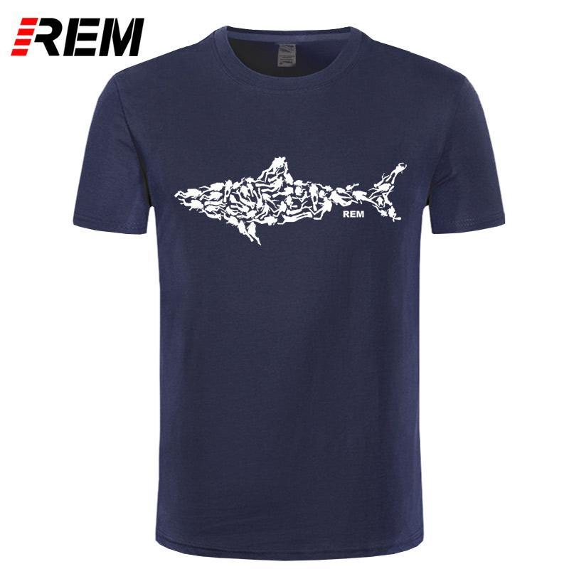 REM Shark Scuba Diver T Shirt Tee Divinger Dive Funny Birthday Gift