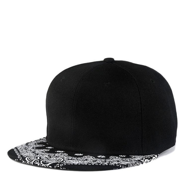 83581d81c01 New Unisex Women Men Paisley Adult Snapback Hiphop Print Hat ...