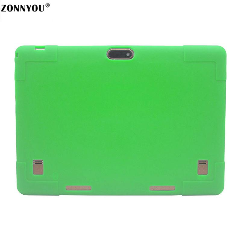 10.1 Tablet PC Android 7.0 3G LTE Octa Core 4 GB RAM 32 GB ROM Dual SIM Tarjetas IPS GPS Rubber Case Tablet PC +Green
