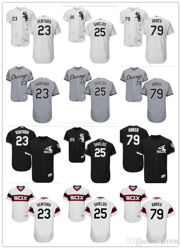 c1a38dbe7 2019 Custom Men'S Women Youth Chicago White Sox Jersey #25 Adam LaRoche 23  Robin Ventura 79 Jose Abreu Black Grey White Baseball Jerseys From Gzf606,  ...