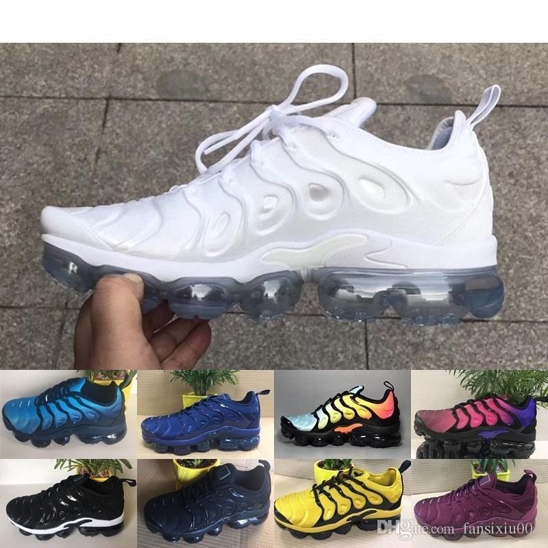 promo code 5948e d7daa Compre Nike Air Max Vapormax Zapatos Para Hombre Del Arco Iris Negro Blanco  Rojo Tn Hombres Transpirable Aire Requin Deportes Al Aire Libre Zapatillas  De ...