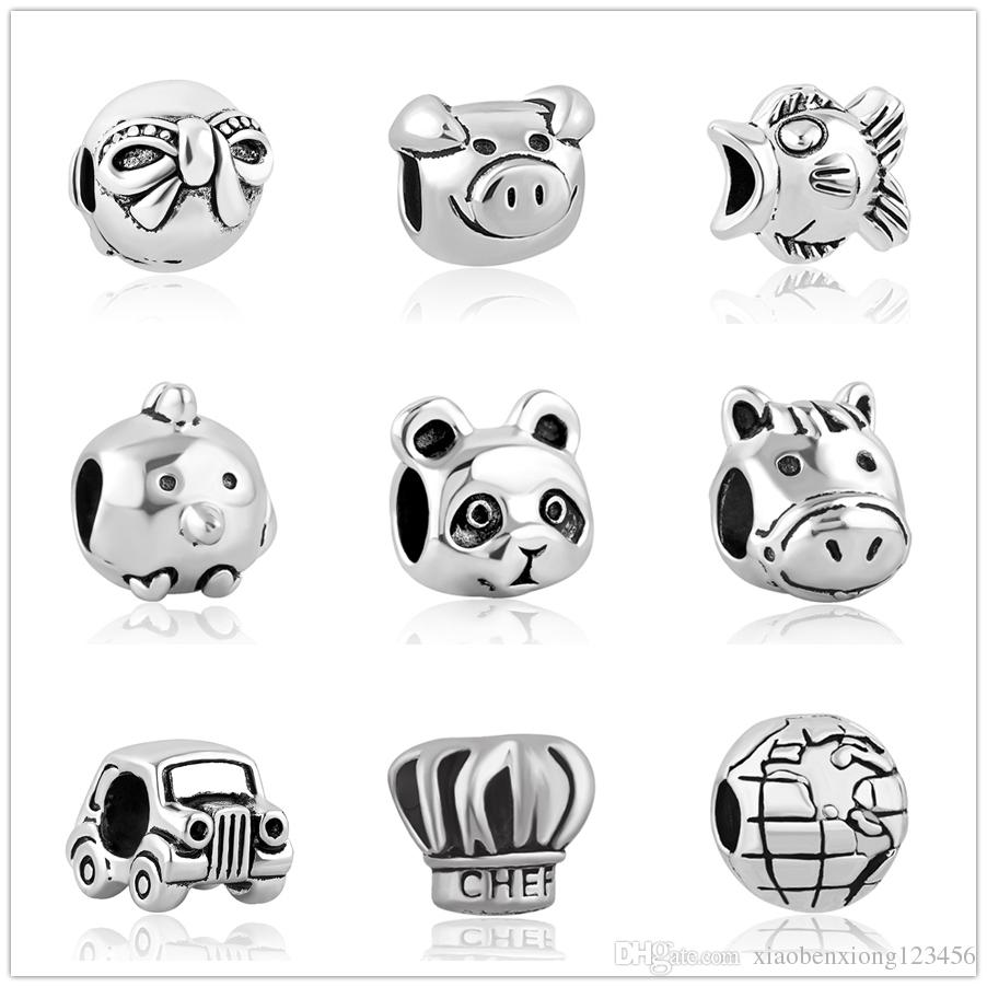 New arrival panda horse car retro wristband bead fit bracelet European style beads fit Pandora bracelet jewelry bracelet diy beads ZY126