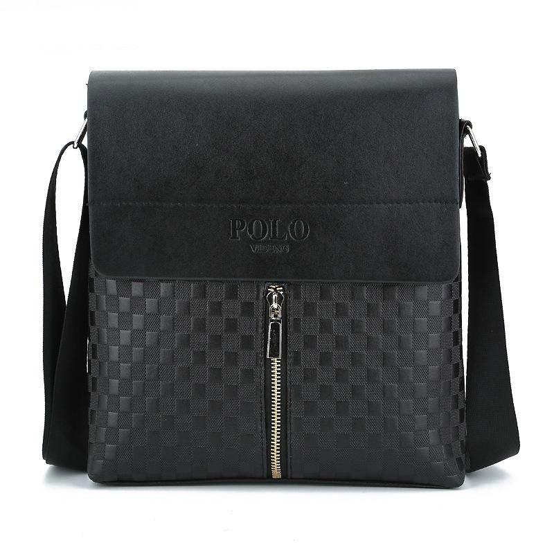 24525446fff Plaid Men Crossbody Bag Small PU Leather Small Handbags Casual Flap Brand  Shoulder Bags For Male Messenger Bag NPL023