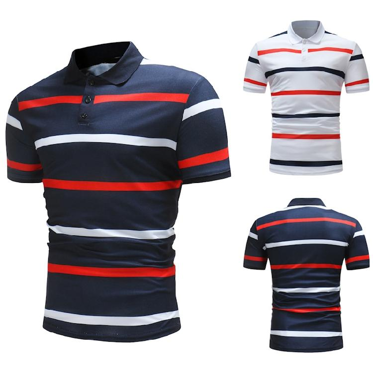 4fd34a9b0e1d Mens Two Colors Striped Casual Shirts Summer Slim Fit Turn Down Collar Short  Sleeve Tops Online with  30.6 Piece on Geiwode s Store