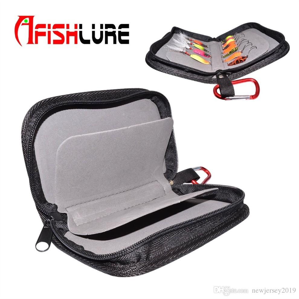 High Quality Black Spoon Package and Sequins Fishing Gear Pocket in Large Capacity Package Fishing Lure Bag Oxford Bag #138079