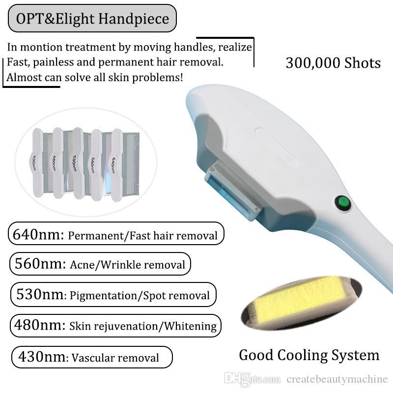 La máquina de eliminación de láser fraccionada de rejuvenecimiento de la piel con rejuvenecimiento de la piel de elight rf Elight rf máquina de eliminación de tatuajes