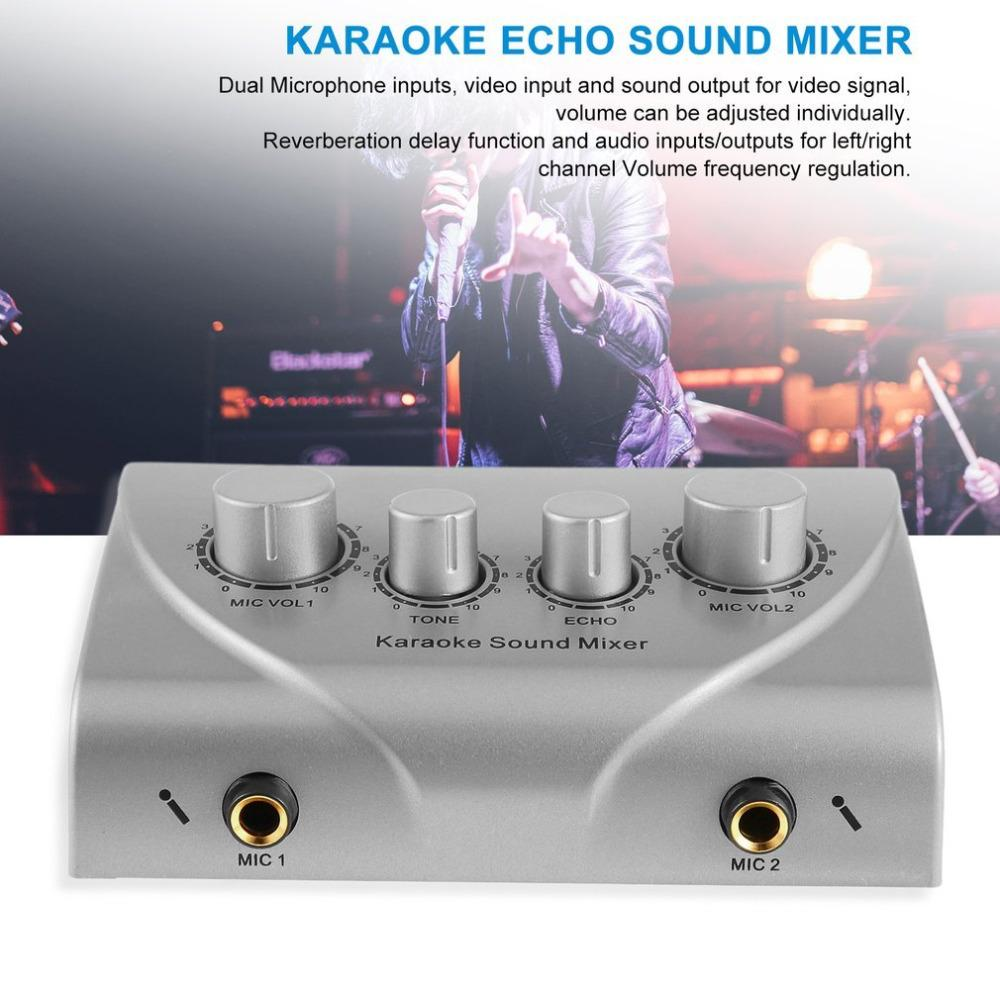 Karaoke Sound Mixer Professional Audio System Portable Digital Audio Sound  Karaoke Machine Mixer System Player silver