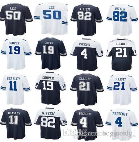 Cheap Dallas Jersey Cowboys 4 Dak Prescott 21 Ezekiel Elliott 50 Sean Lee  82 Jason Witte 11 Cole Beasley 19 Amari Cooper Men Women Youth Kids 043c393a6