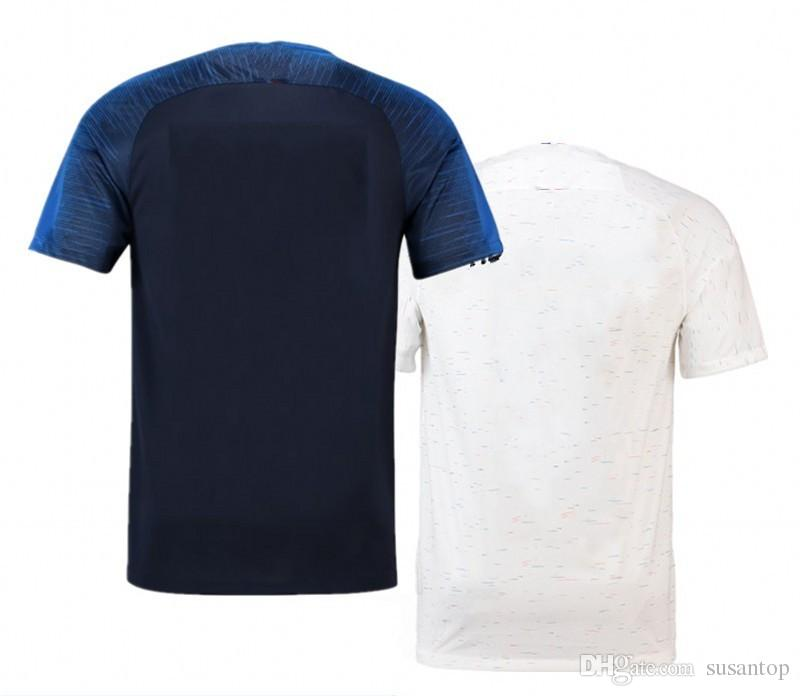 best website 7ab47 8f2fb 2 Star for France Soccer jersey GRIEZMANN MBAPPE KANTE POGBA Maillot  Football jerseys Kids adult 2018 champion Shirt Maillot de foot