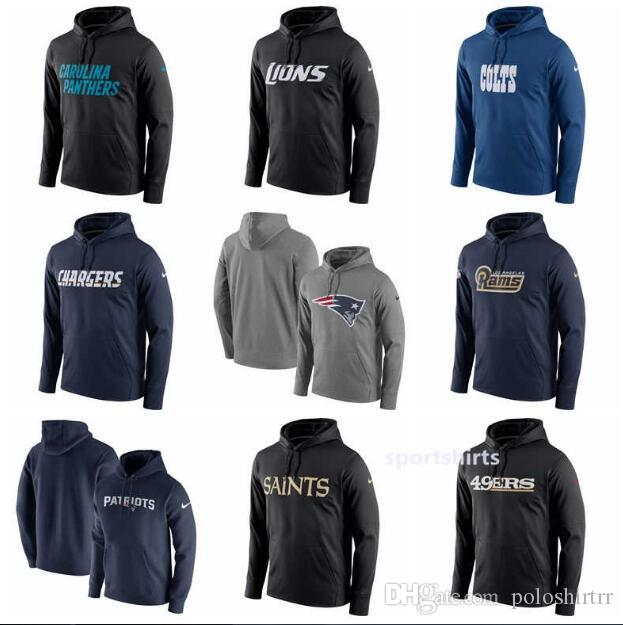 new product 924a1 afb9a Panthers Detroit Lions Cardinals Colts Los Angeles Chargers Rams San  Francisco 49ers Circuit Wordmark Performance Pullover Hoodies