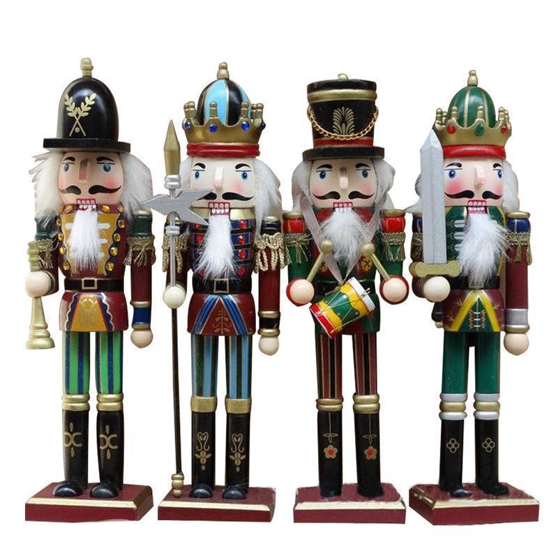 Le Noël Atelier de Noël 30 cm de hauteur en bois soldat Casse-noisette sur socle