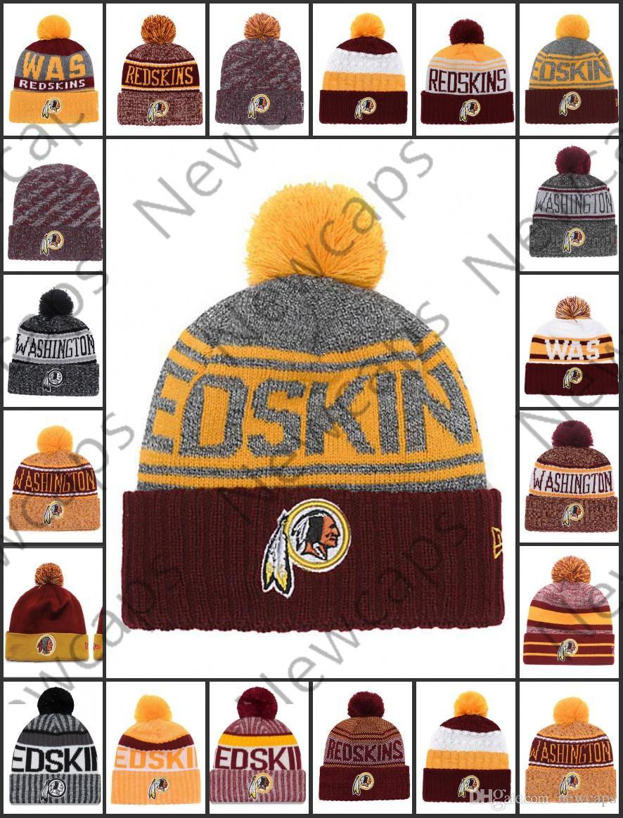 0c46c2e9 Wholesale Washington Sport Winter Hats Redskins Stitched Team Logo Brand  Warm Men Women Hot Sale Knitted Caps Cheap Mixed Beanies