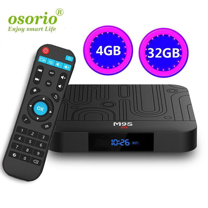Android 8 1 TV Box Rockchip RK3328 4GB 32GB Support 4K Streaming Box with  Google Play Store Netflix M9S J1 IPTV BOX Better MX10 S8 Max T95Q