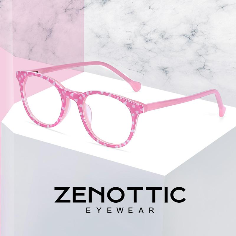 0f2e731b8587 2019 ZENOTTIC Optical Myopia Glasses Frame Girls Pink Acetate Fashion  Spectacles Frames Kids Cute Transparent Eyeglasses Frames Child From  Amsunshine, ...