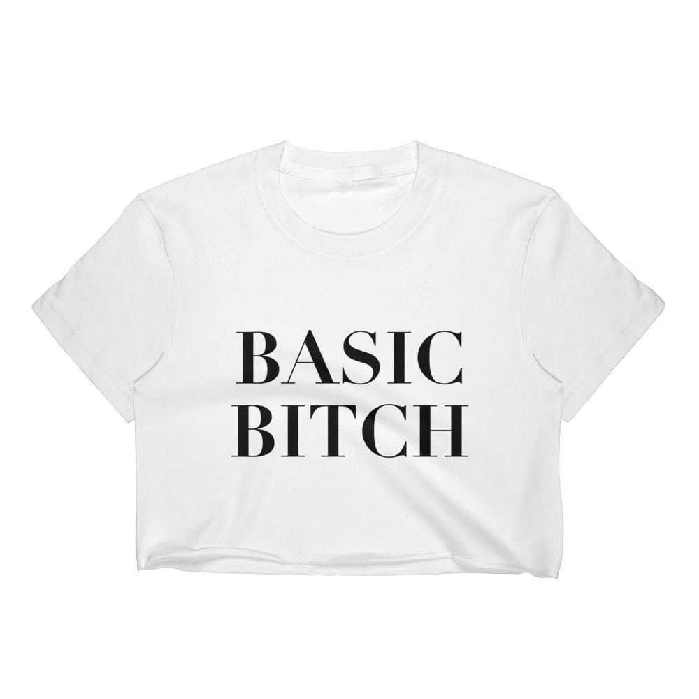 5c5000989b BASIC BITCH CROP TOP T SHIRT WOMENS FUNNY HIPSTER CUTE SLOGAN LADIES ...