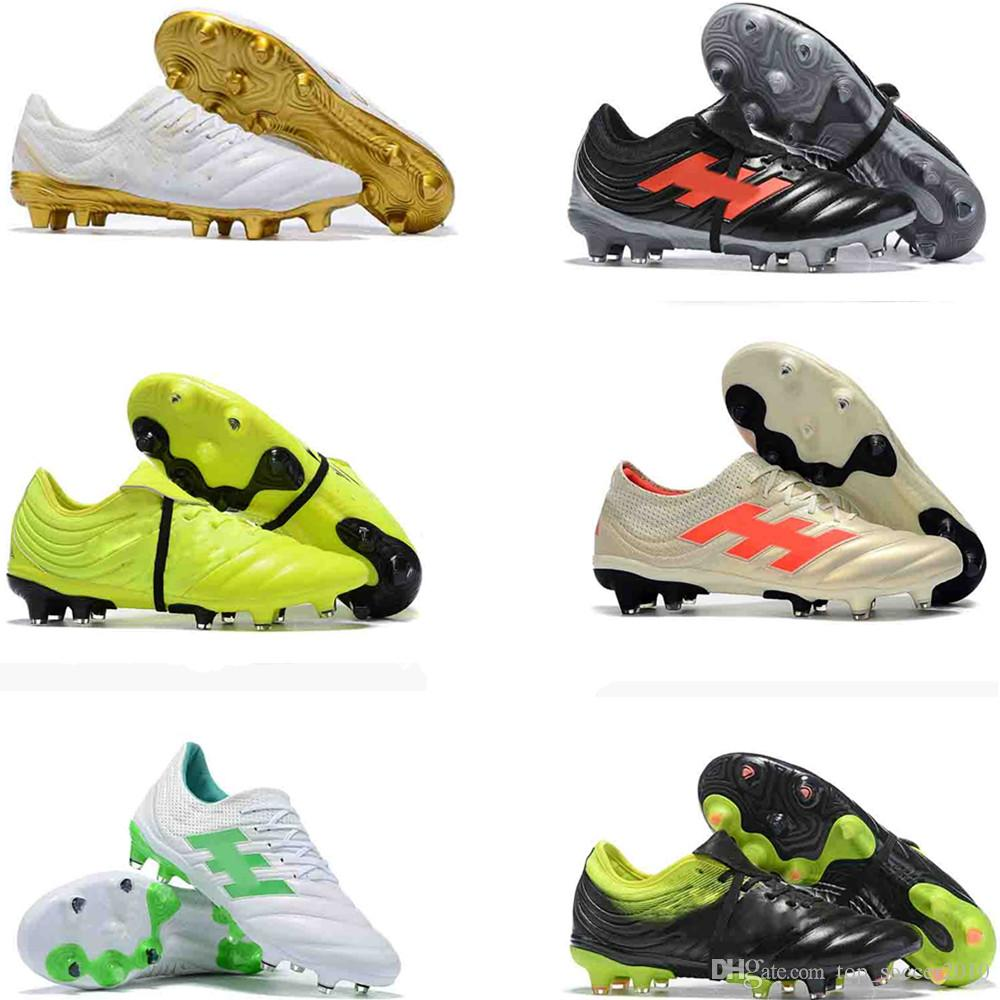 2019 2019 Mens Soccer Cleats Copa 19.1 FG Exhibit Soccer Shoes Champagne  Lace Up Football Boots Outdoor Tacos De Futbol High Quality New Arrival  From ... 463a0c49b27