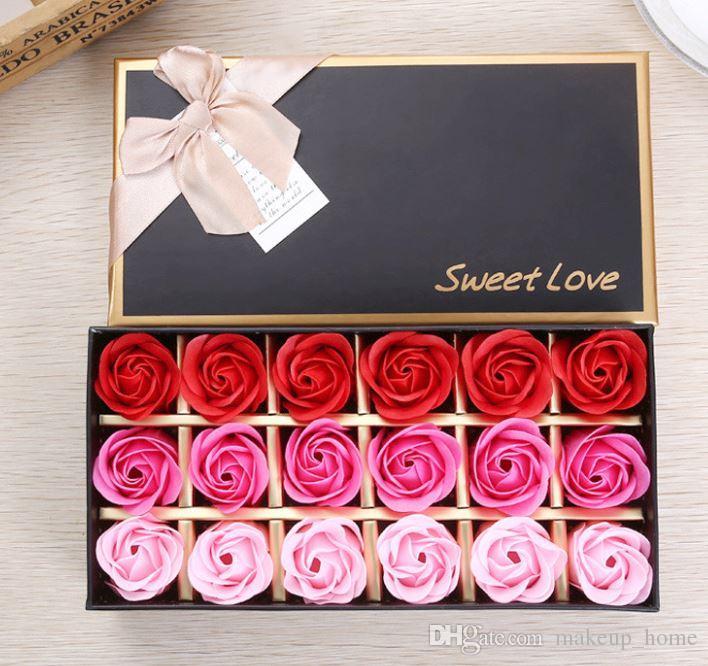 Acheter Cadeaux De Saint Valentin 18 Fleurs De Savon Cadeaux D