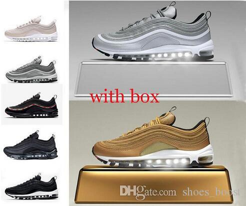 b66bbea8a6 2018 97 97 Og Undftd Undefeated Triple White Running Shoes 97s OG Metallic Gold  Silver Bullet Mens Trainers Women Sports Sneakers Sports Shoes Running Shoes  ...