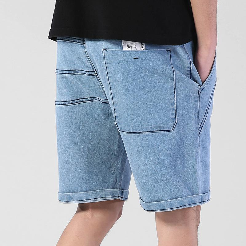e11bfe9970ed 2019 Summer Thin Elastic Waist Band Denim Shorts Mens Loose Plus Size Big  4XL 5XL 6XL Large Size Shorts Casual Fat Male Jeans Bermuda From Radishu