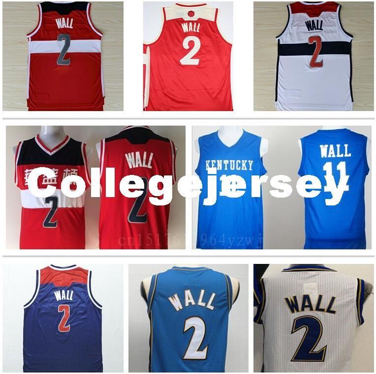 9495d094d6c 2019 Wall 2 Kentucky Wildcats College Basketball Jerseys Cheap Wall Jersey  Sport Team Color Red White Blue Ncaa From Collegejersey, $16.74 | DHgate.Com