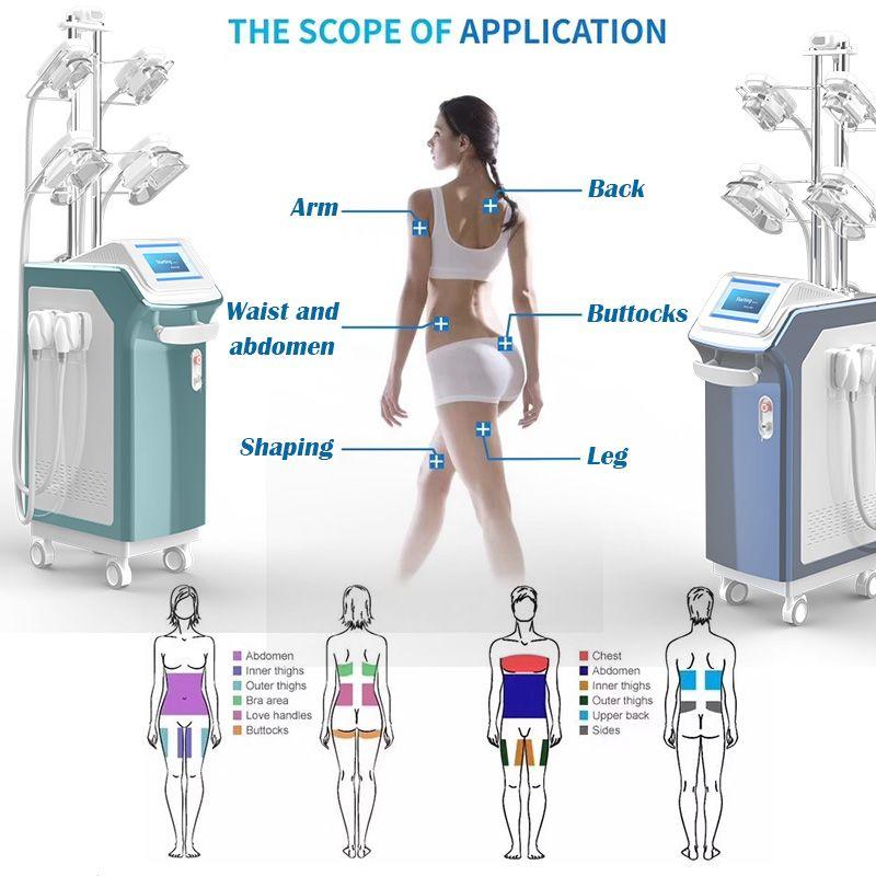 Most Effectice cryolipolysis machine freezing fat machines anti cellulite machines cryolipolysis 4 cryo handles work together