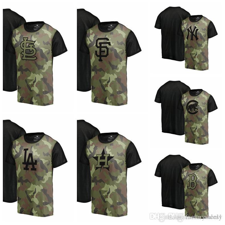 72f29dff9 NEW 2019 Green Memorial Day Camo Blast Sublimated T Shirt Red Sox Cubs  Astros Dodgers Yankees Giants Cardinals Short Sleeve Shirts Cheap Shirts  From Anada