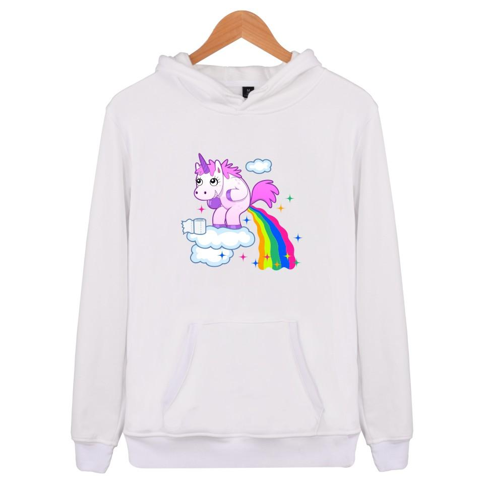 6f1e40ac94803 Unicorn Pullover Women's Sweatshirts Hip-hop Casual Men's Wear Hoodie  Sportswear funny cute cartoon print Pullover