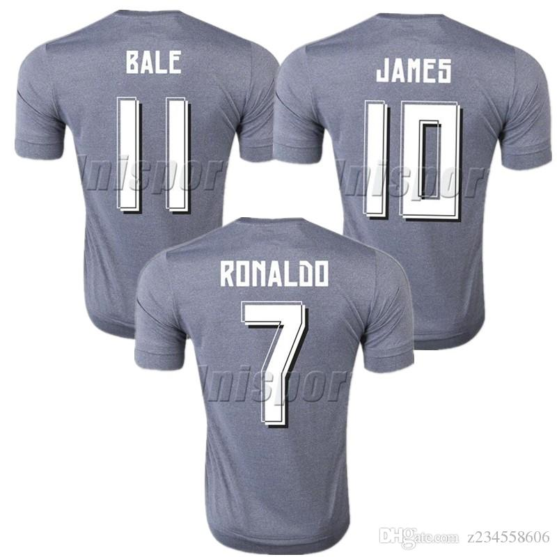 official photos 7ab89 3662e 2015/16 Real Madrid Away Soccer Jerseys Ronaldo Isco Modric Futbol Camisa  Football Camiseta Shirt Kit Maillot